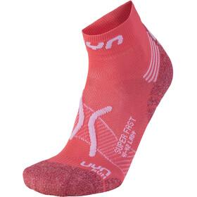 UYN Run Super Fast Skarpetki Kobiety, czerwony/biały